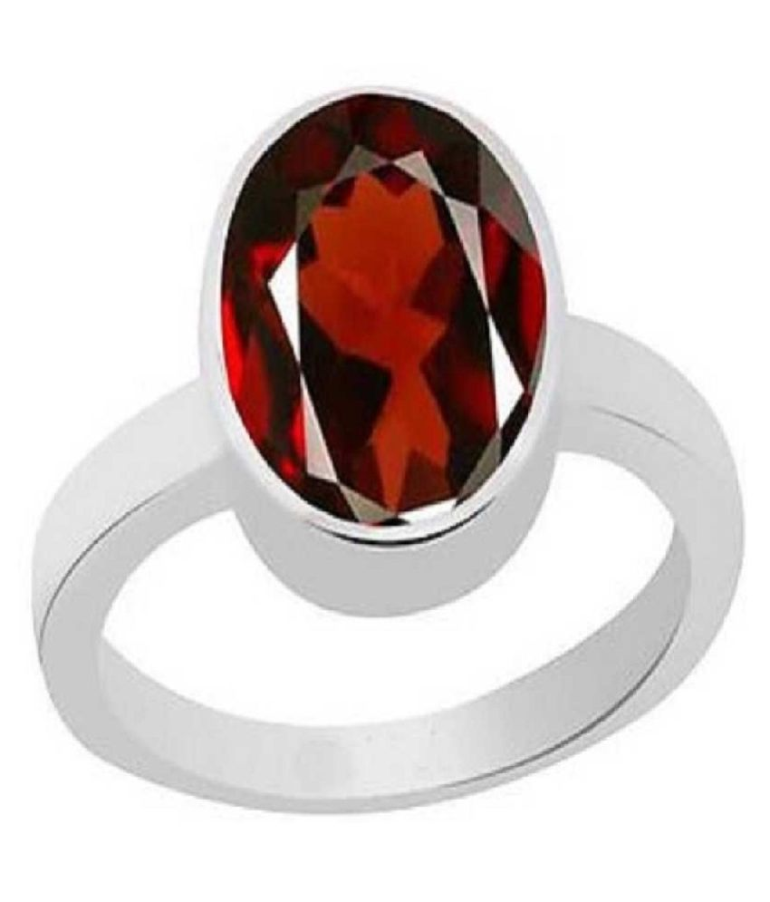 3.25 ratti stone pure Hessonite Silver Ring  for unisex by Kundli Gems\n