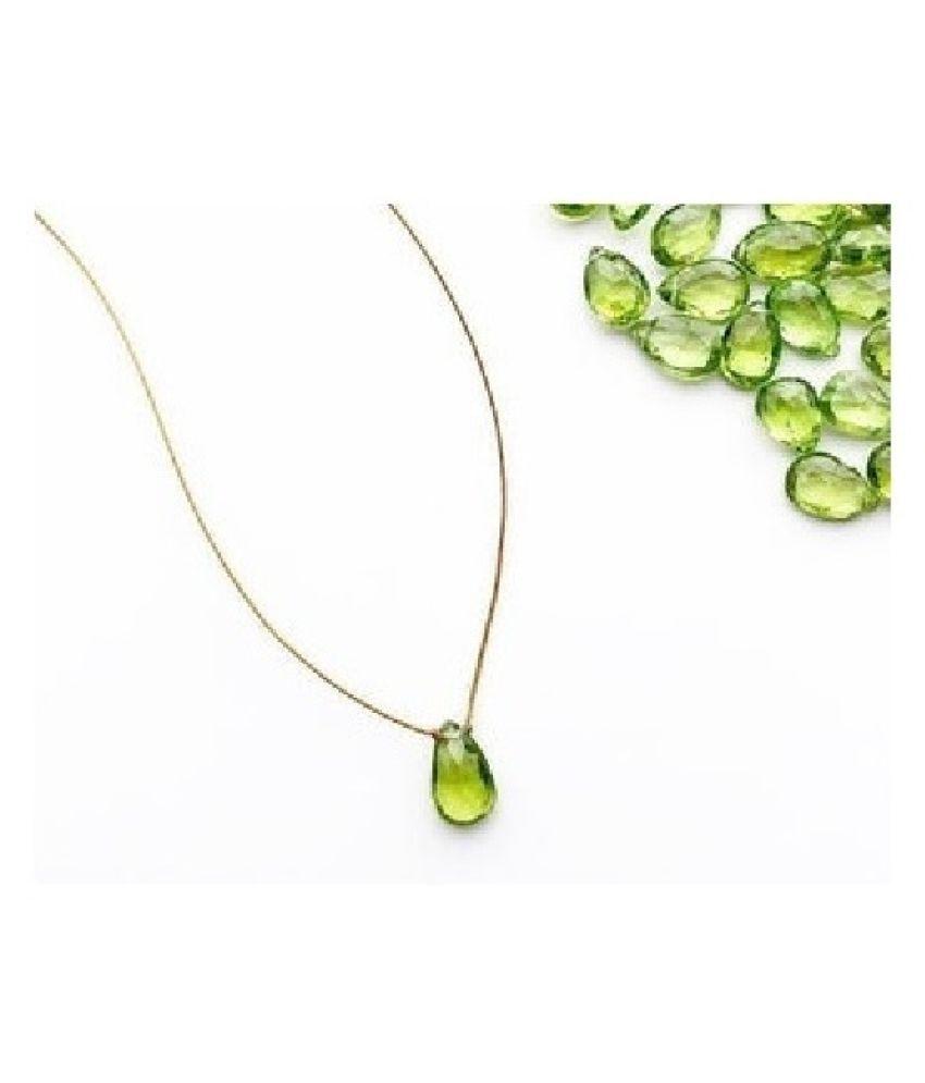 Peridot Pendant 3 carat Round Cut Moti Locket without chain by Ratan Bazaar