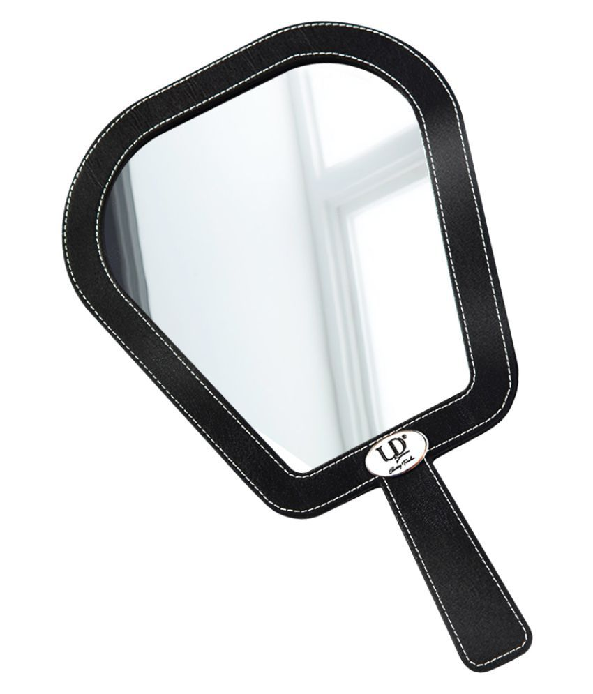 UD Fully Leather Handle Coating One Side Compact Mirror