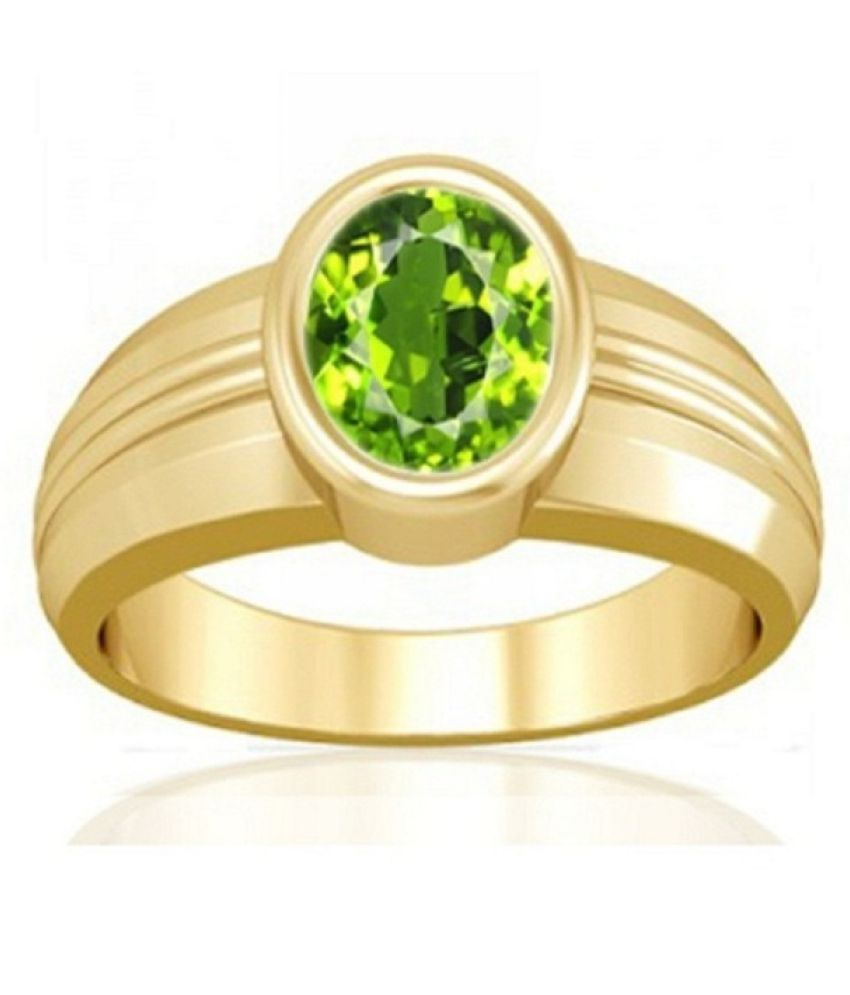 7.25 Carat Original Natural Certified Green Peridot Oval shape Faceted Gemstone August Birthstone Peridot Adjustable Gold Plated Ring Size 16-24