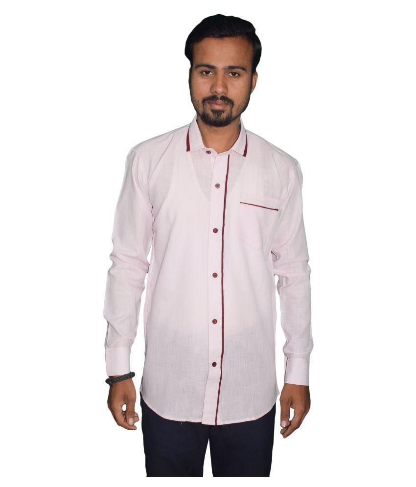 KMP 100 Percent Cotton Pink Shirt