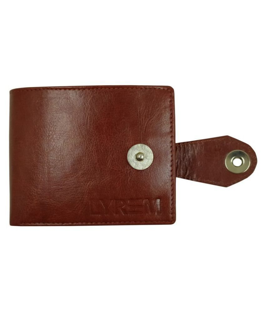 LYREM Faux Leather Brown Casual Regular Wallet