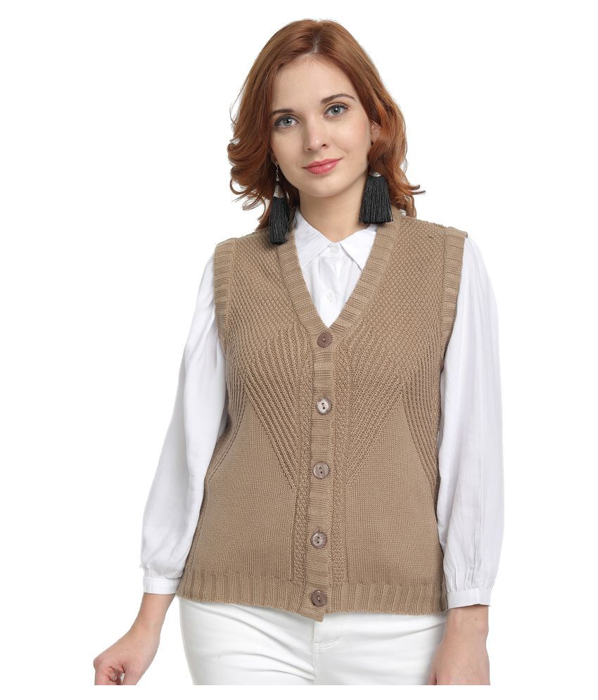 Wool Trees Acro Wool Brown Buttoned Cardigans