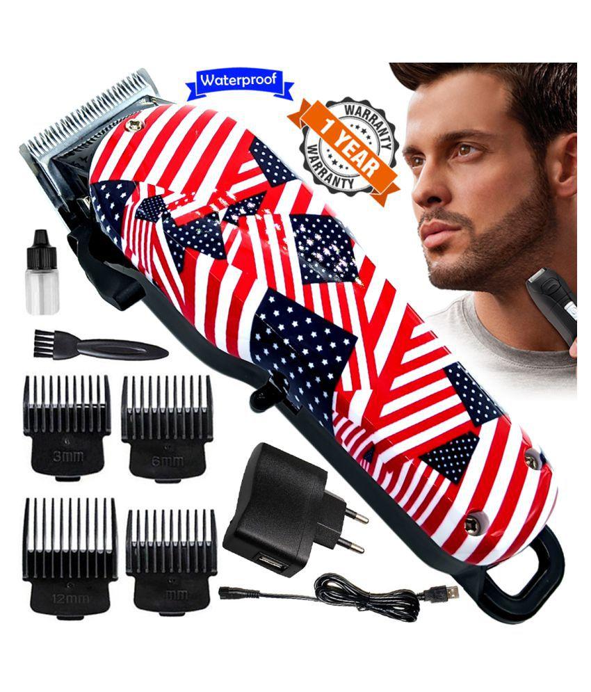 G Men's AC-DC Waterproof Rechargeable Beard Mustache Trimmer Hair Clipper Razor Combo
