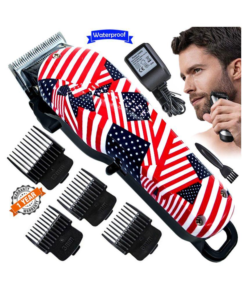 Men Waterproof Rechargeable Beard Mustache Hair Trimmer High Power Hair Clipper Combo