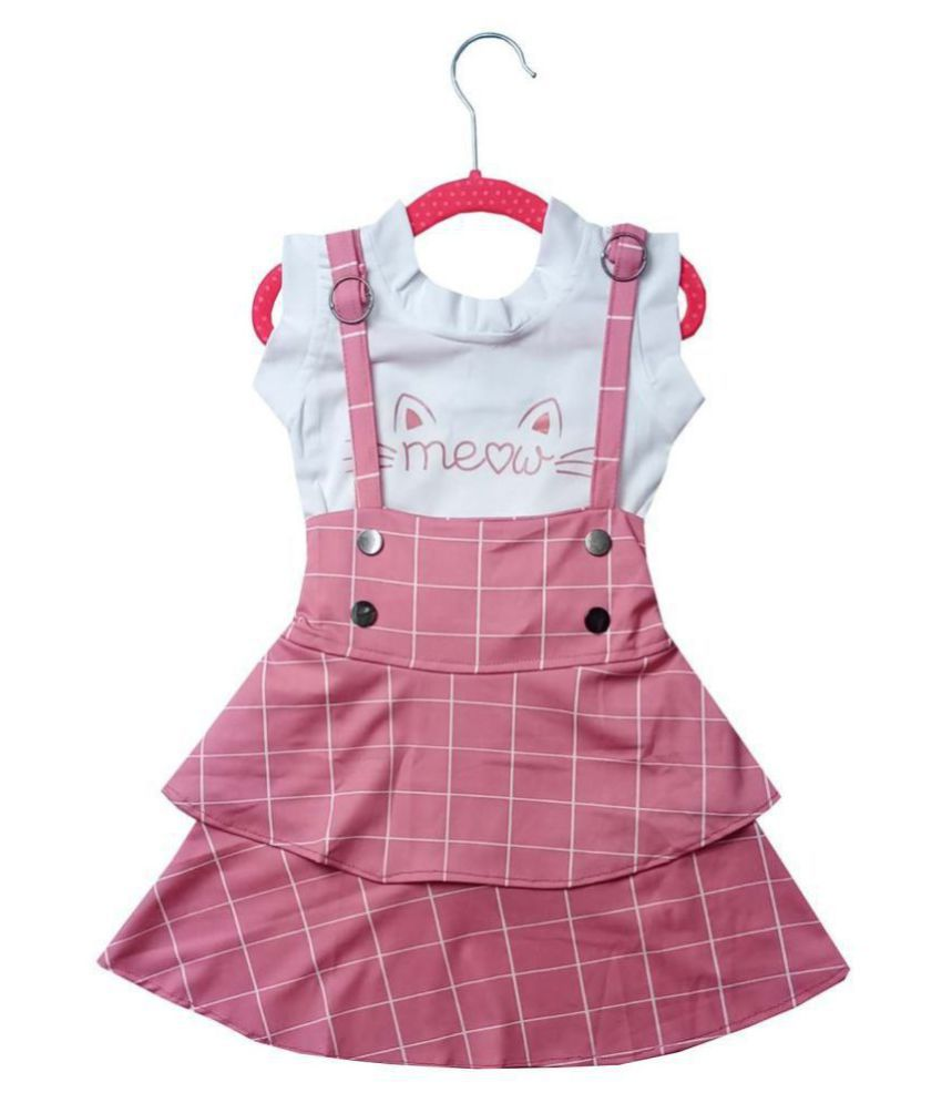 ALL ABOUT PINKS® Combo of Top and Skirt Party Wear Dresses for Girls