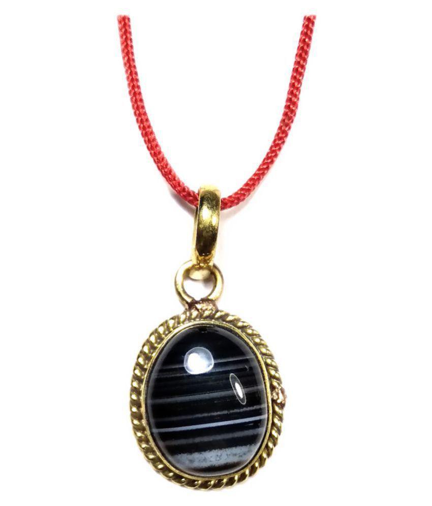 PRIYANSHU NAVARATN Certified Sulemani Pandant 10-11 Ratti * 9.00-9.50 Carat Pack of 1 Natural * Pandle * Loket * Agate Sulemani Hakik Gold Plated Gemstone for Men Women