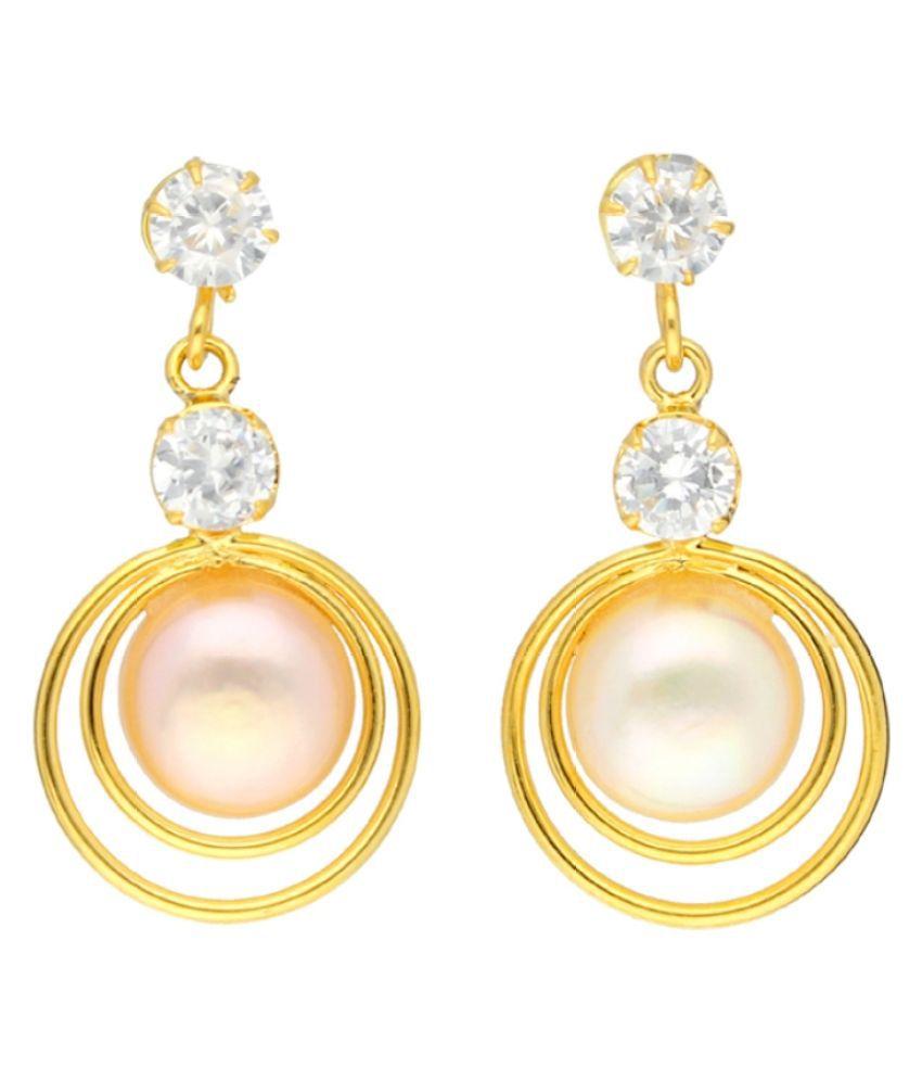 Stylish Double Dose Stone Earrings By KNK Jewellery