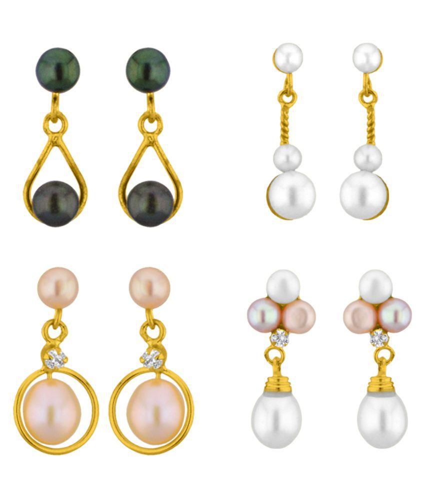 Stylish Gazab Combo Of 4 Pairs Earrings By KNK Jewellery