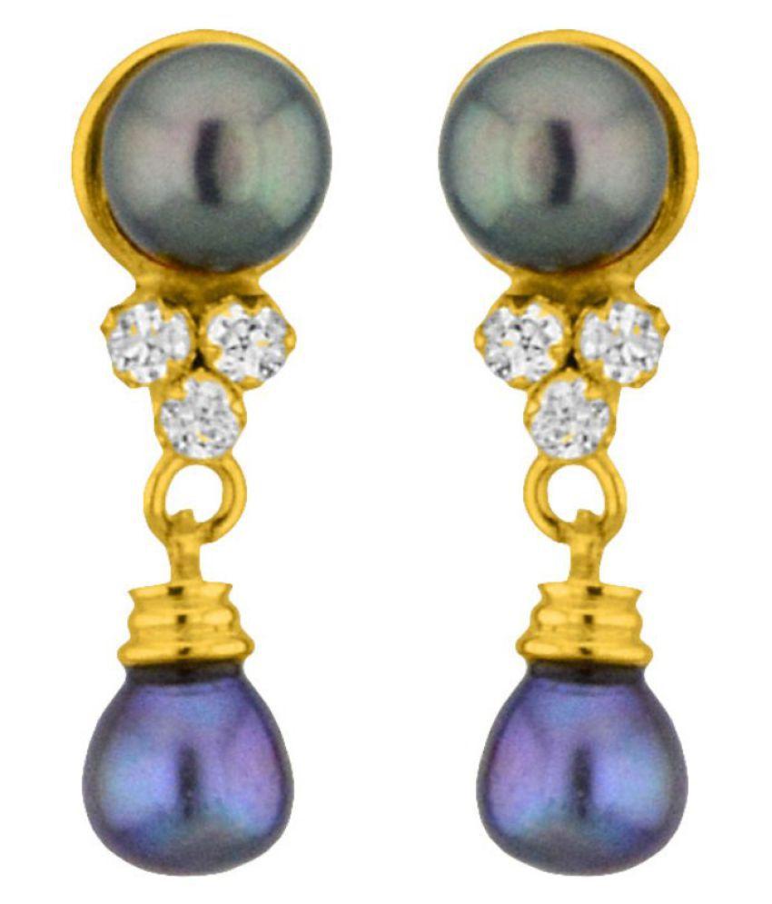 Stylish Grey Drop Earrings By KNK Jewellery