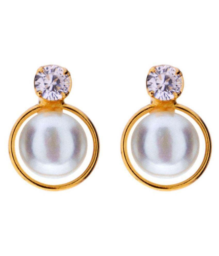 Stylish Lilly Cz Pearl Earrings By KNK Jewellery