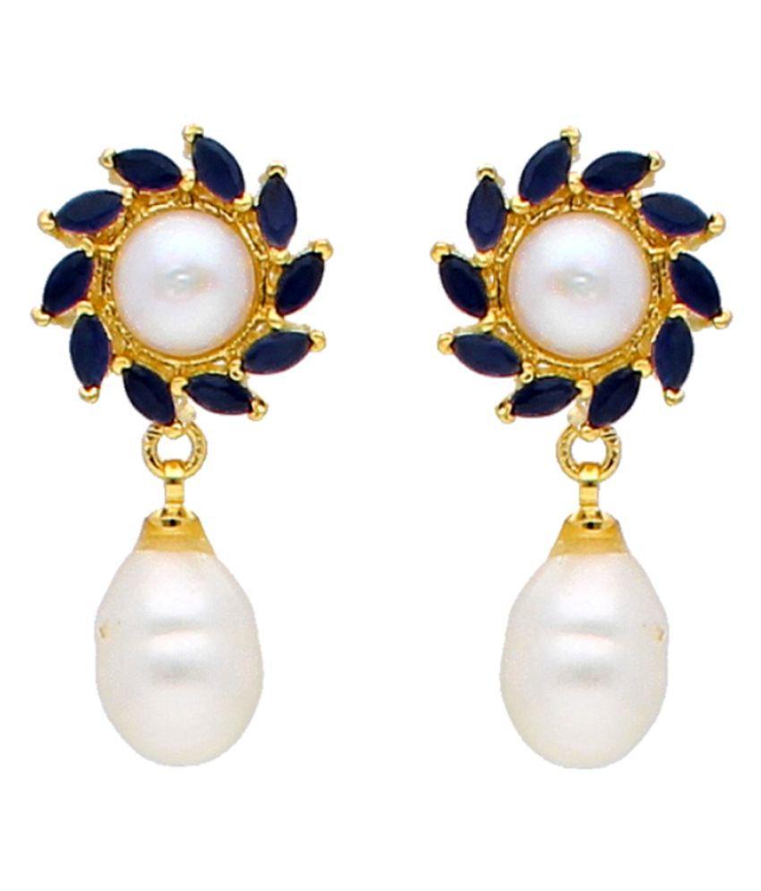 Stylish & Trendy Haze Freshwater Pearl Earrings By KNK Jewellery
