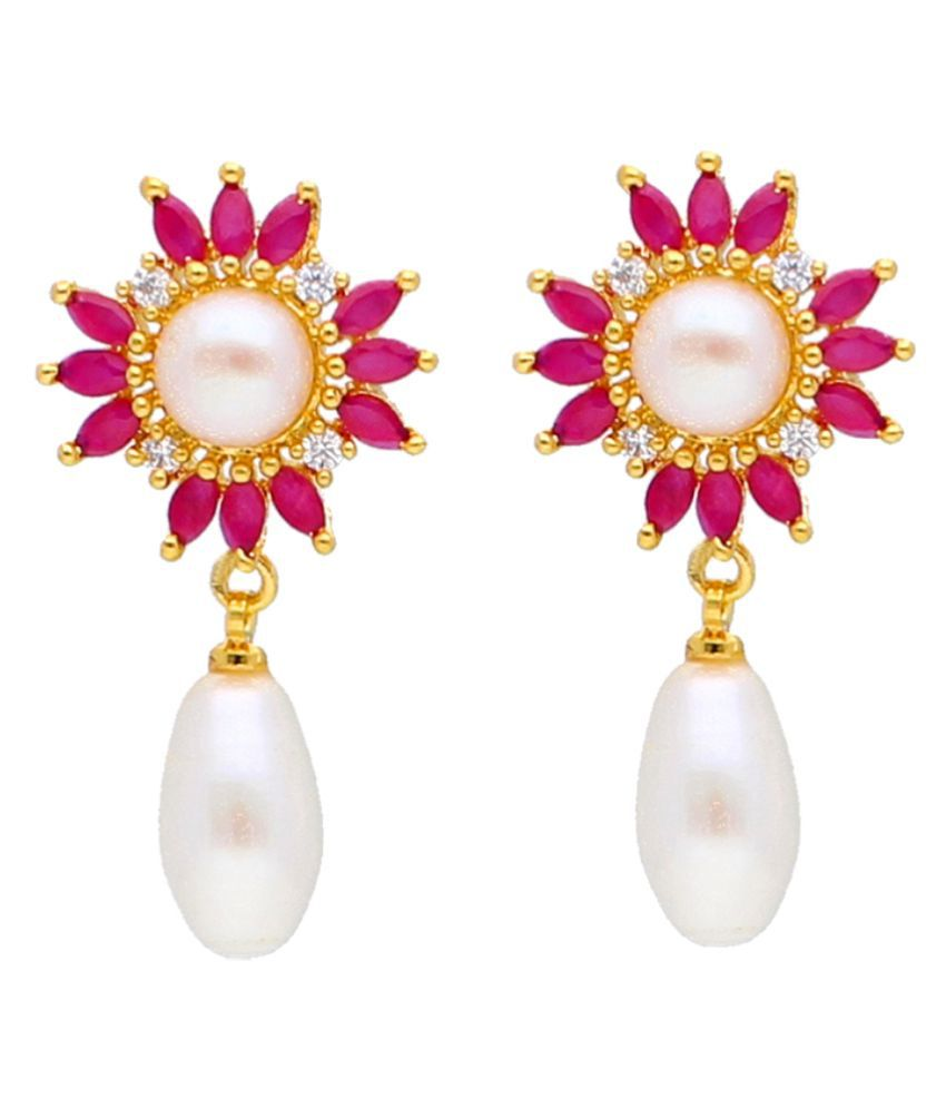 Stylish & Trendy Laya Freshwater Pearl Earrings By KNK Jewellery
