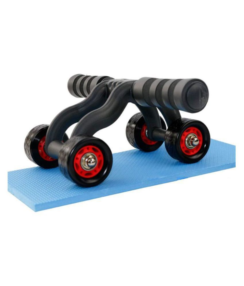 MCP Upgraded 4-Wheel Ab Carver Roller with Knee Mat - Abdominal Workout Fitness Exercise Equipment