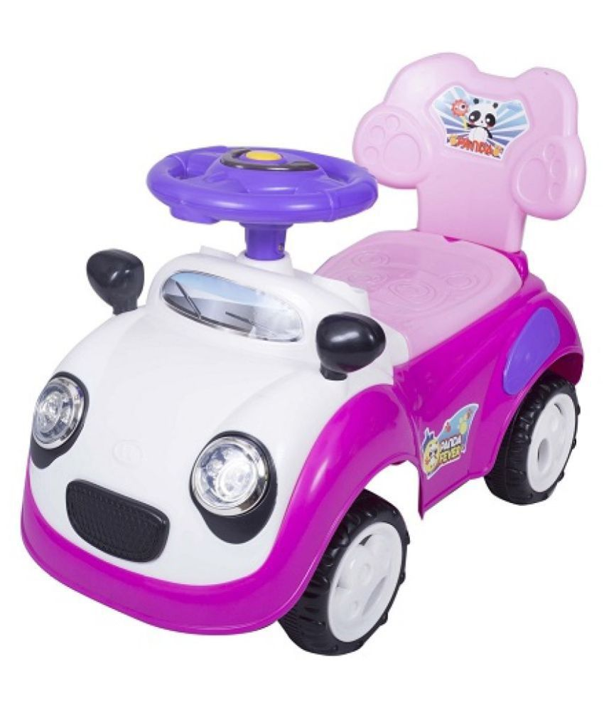 EZ' PLAYMATES PANDA CAR RIDE ON PINK