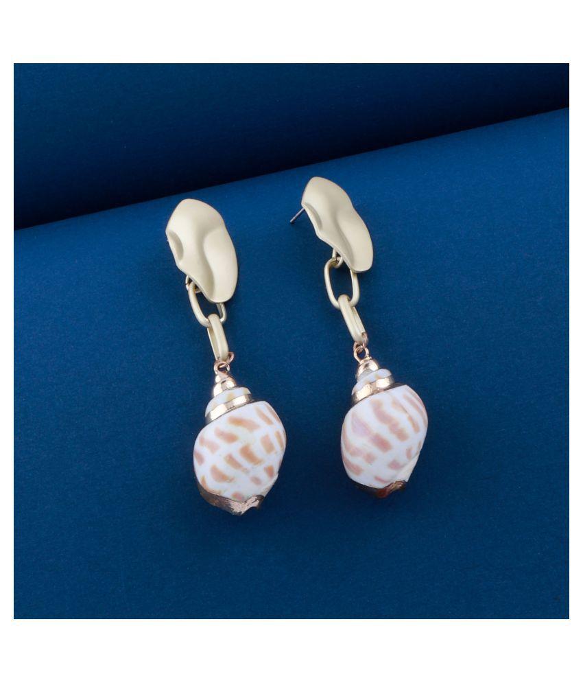Stylist Party Wear Shell Drop Earring for Girls and Women Jewellery