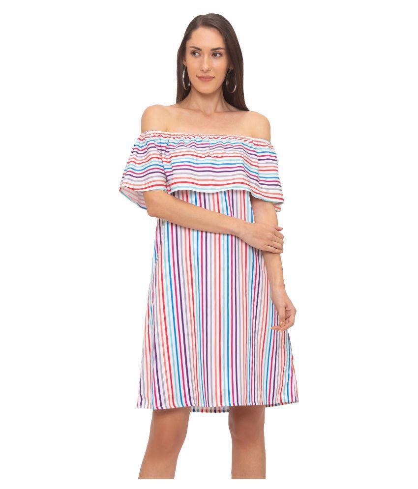 Globus Cotton Multi Color Sheath Dress