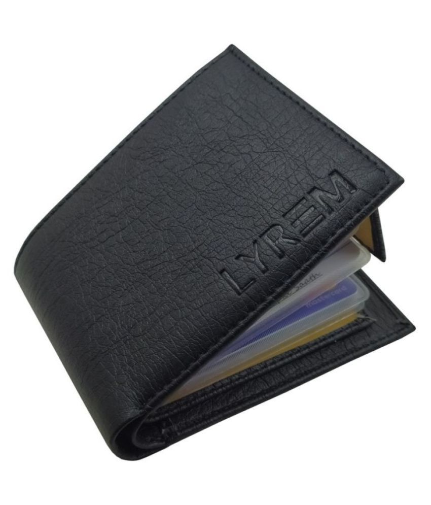 LYREM Faux Leather Black Formal Regular Wallet