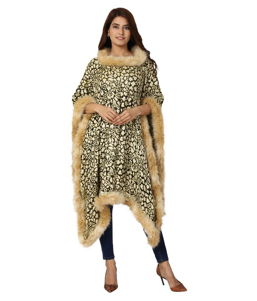 shawls of india Viscose Beige Ponchos & Capes