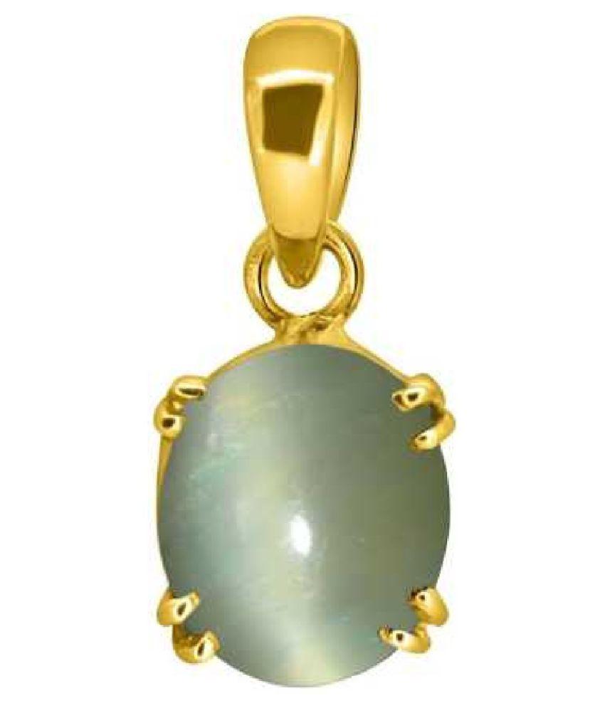 9 Carats Cat's Eye Pendant / Locket Cat's Eye Stone Pendant by Kundli Gems