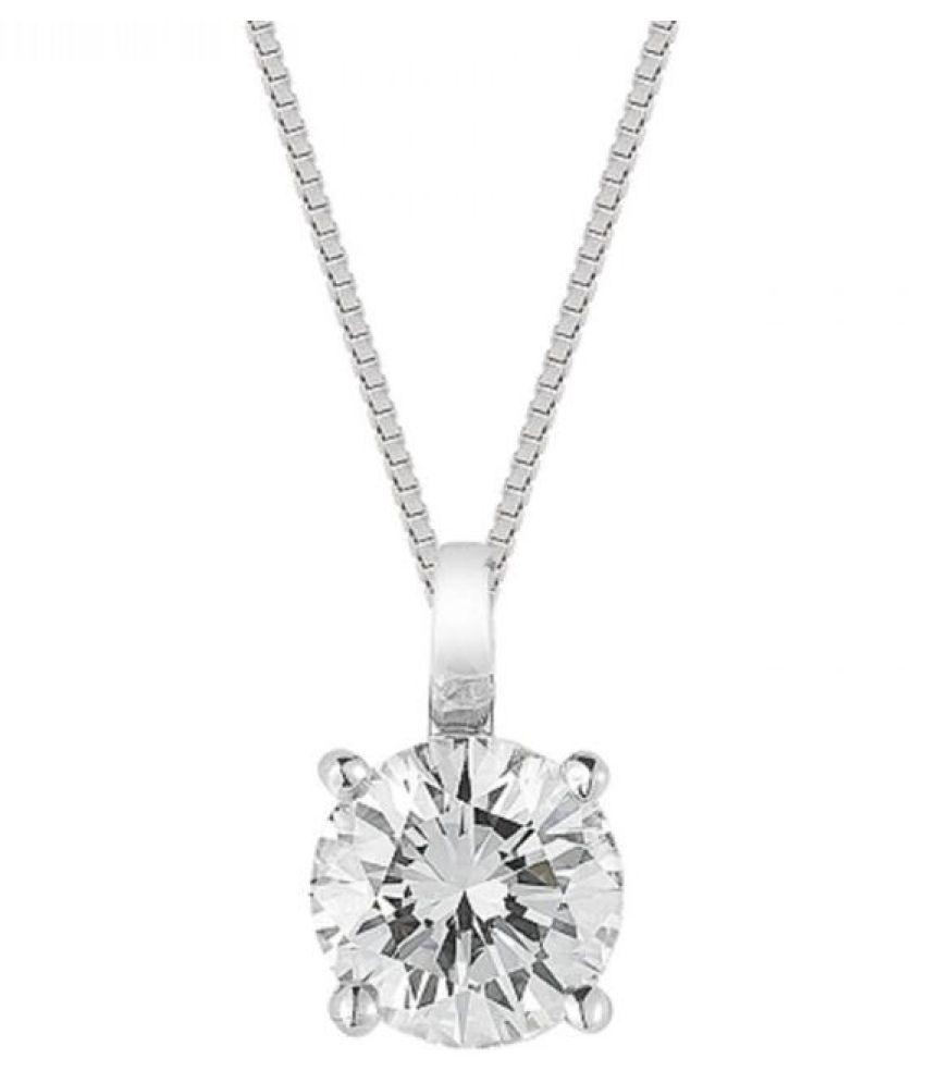 American Diamond  Pendant  Original Silver American Diamond  Pendant by  KUNDLI GEMS