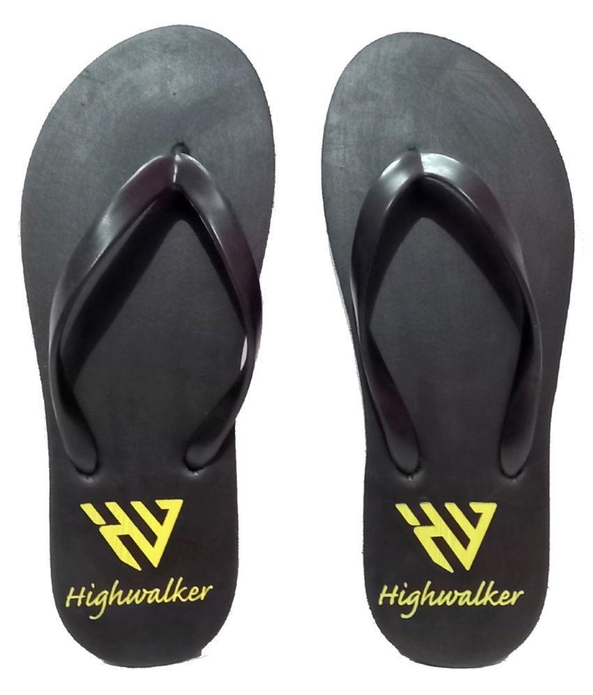 HighWalker Black Slippers