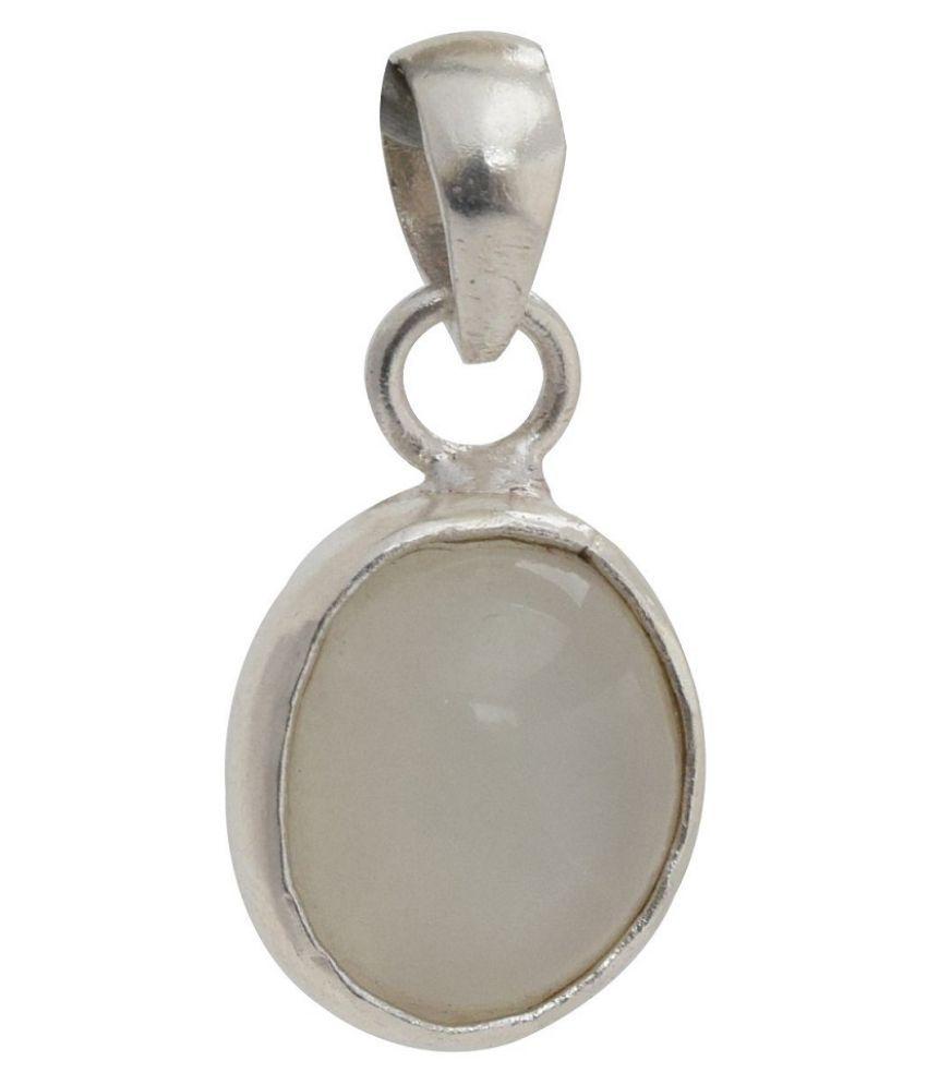 5 ratti  Pendant Natural MOONSTONE Sterling Silver Pendant by  Kundli Gems
