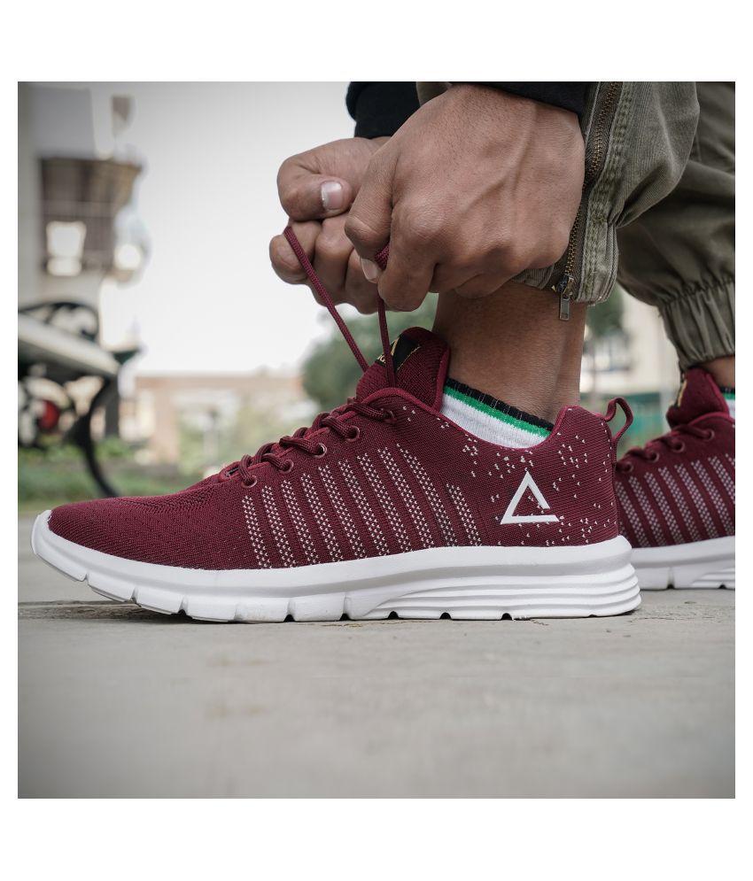 ADIAIR Zeal Maroon Running Shoes