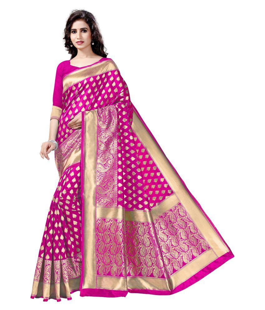 Avisha Pink Banarasi Silk Saree