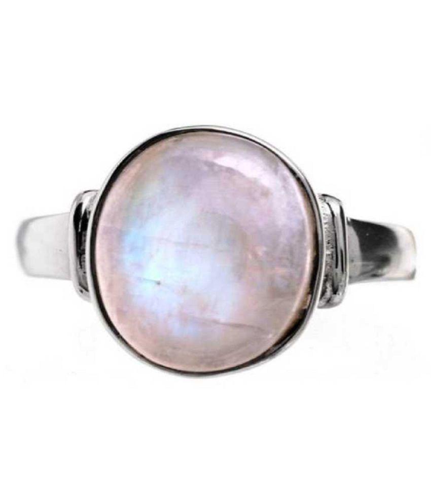 Certified 10 Carat silver MOONSTONE  Ring by Kundli Gems