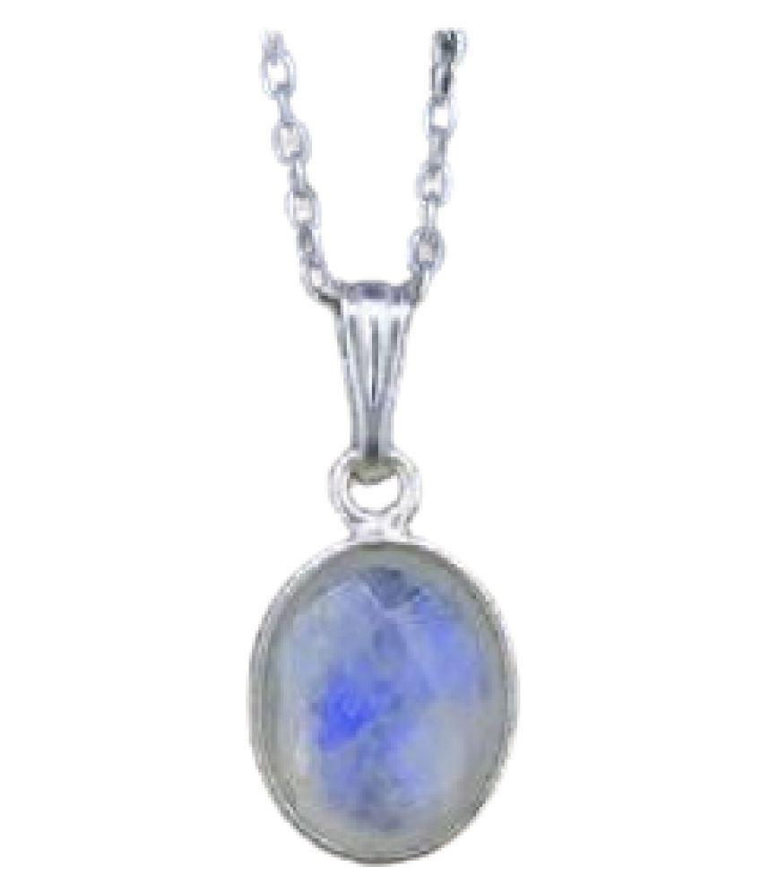 Unheated & Untreated MOONSTONE  silver Pendant 100% Original & Certified Stone by Kundli Gems