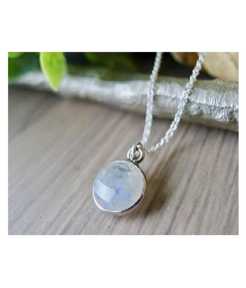 6.25 Ratti silver  Original MOONSTONE  Pendant Lab Certified Stone by Kundli Gems\n
