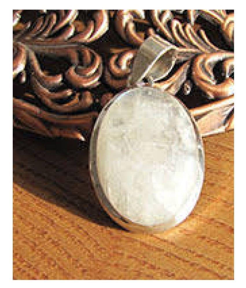 7 Ratti MOONSTONE  silver  Pendant for Unisex by Kundli Gems\n
