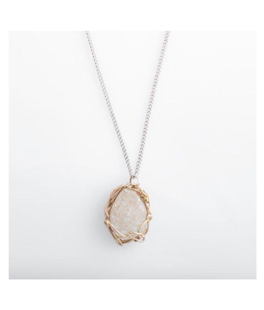 8.25 Ratti Natural IGI Lab Certified MOONSTONE Stone silver Pendant By Kundli Gems