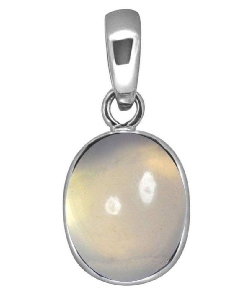 8.25 carat Natural silver  MOONSTONE  Pendant by Kundli Gems\n