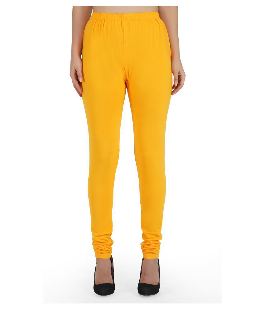 Girly Girls Cotton Jeggings - Yellow