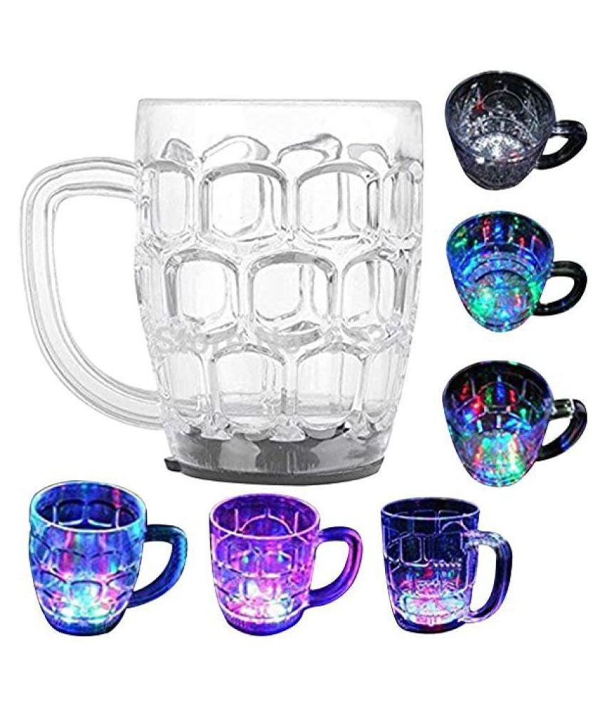 Rainbow Magic Color Cup with LED Light Party Mug, Kids Mug, 1 Unit, Capacity 250 ml