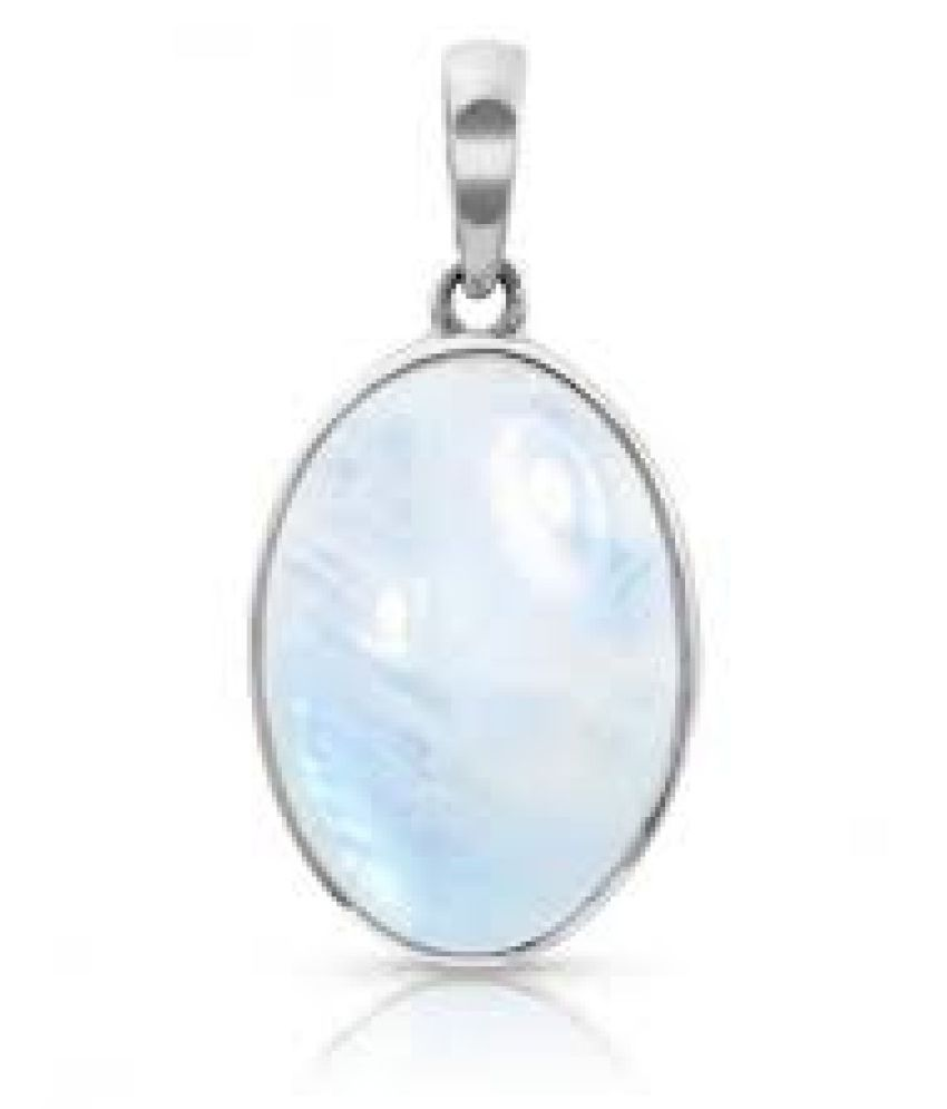 12 carat only MOONSTONE  Pendant with Natural MOONSTONE  & Lab Certified silver MOONSTONE  by Kundli Gems