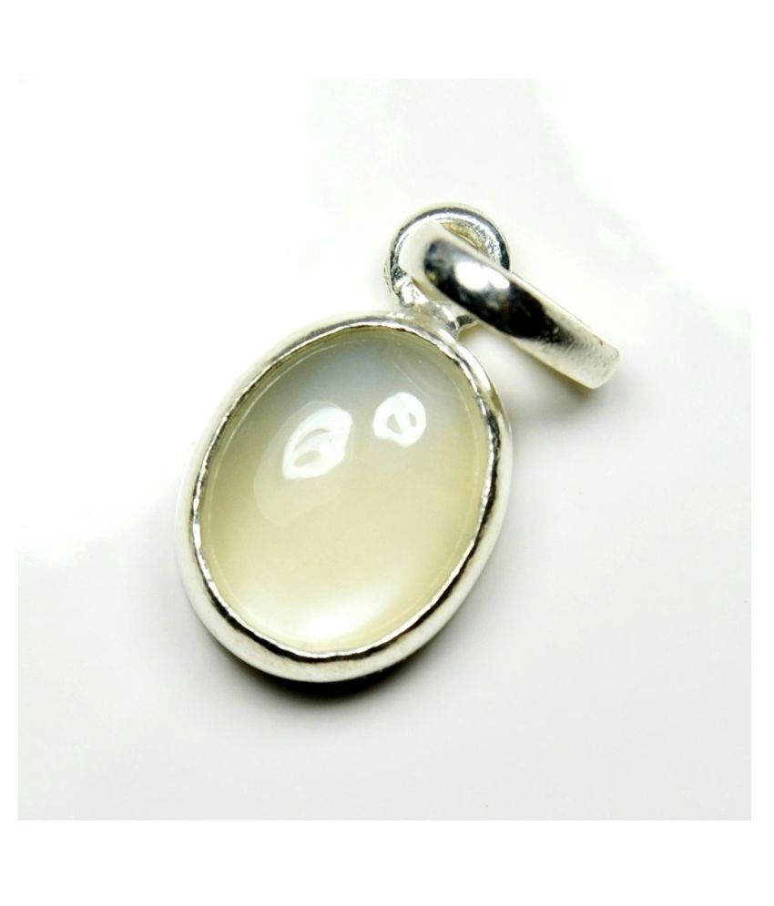 2.5 carat Natural Silver MOONSTONE  Pendant by   Ratan Bazaar\n