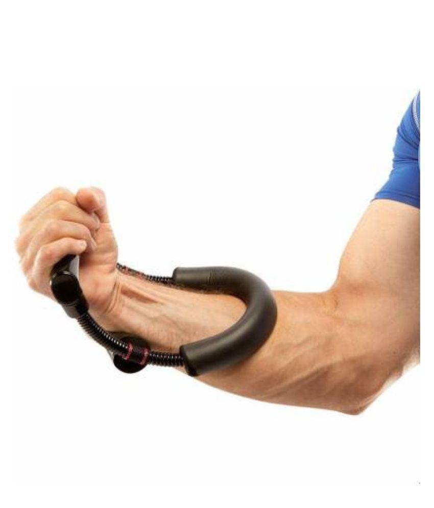 AVMART Adjustable Forearm Strengthener Wrist Exerciser Equipment for Upper Arm Workout Hand Grip/Fitness Grip  Black