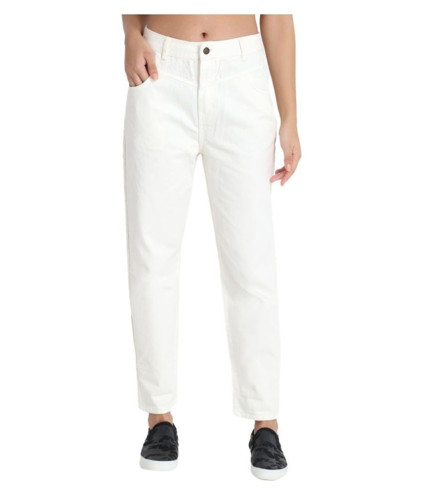 OVERS Denim Lycra Jeans - Off White
