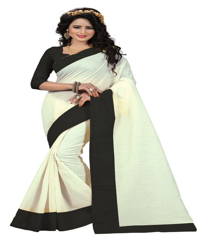 d'WiU Black Chanderi Saree