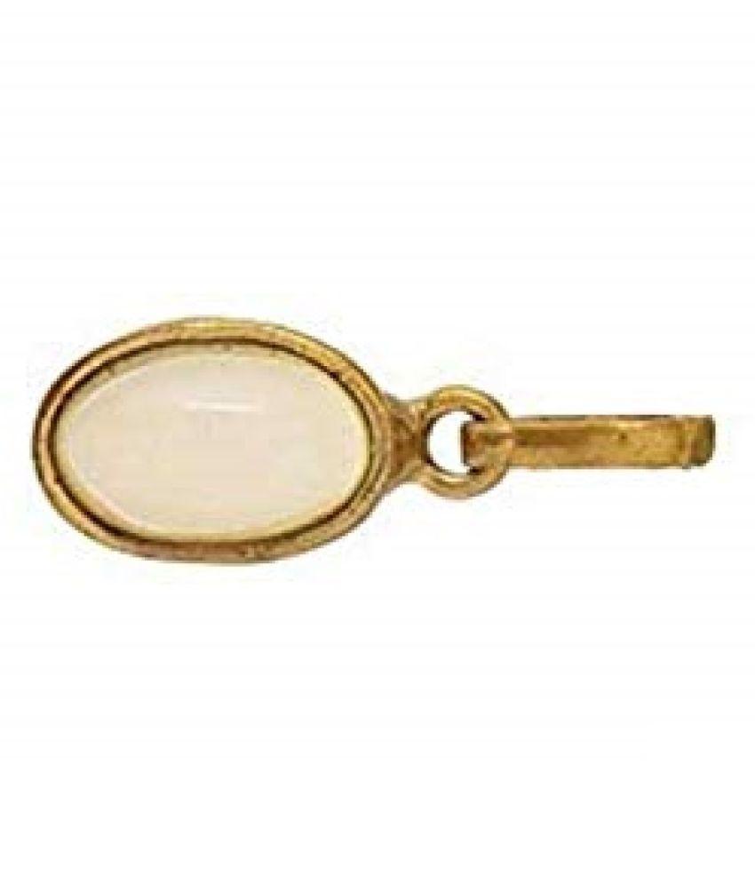 100% Original MOONSTONE Stone 7.25 Ratti Lab Certified Stone gold plated Pendant by  Ratan Bazaar