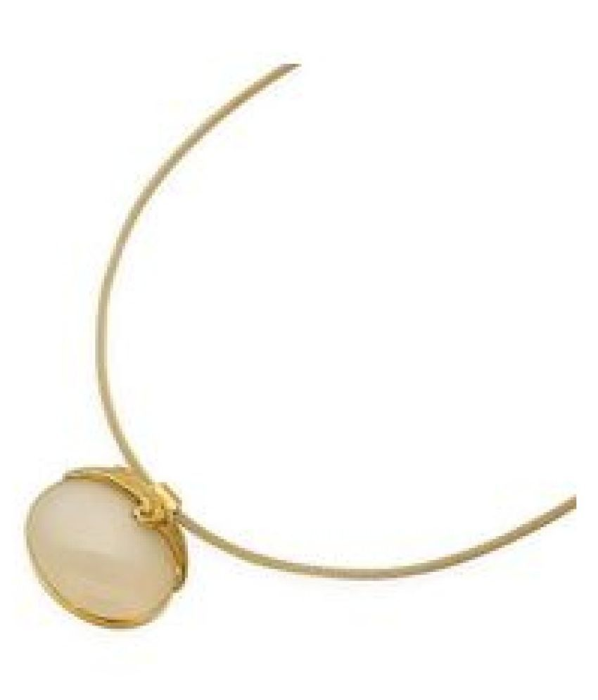 5.5 Ratti MOONSTONE gold plated Pendant With Certified Astrological Stone by  Ratan Bazaar