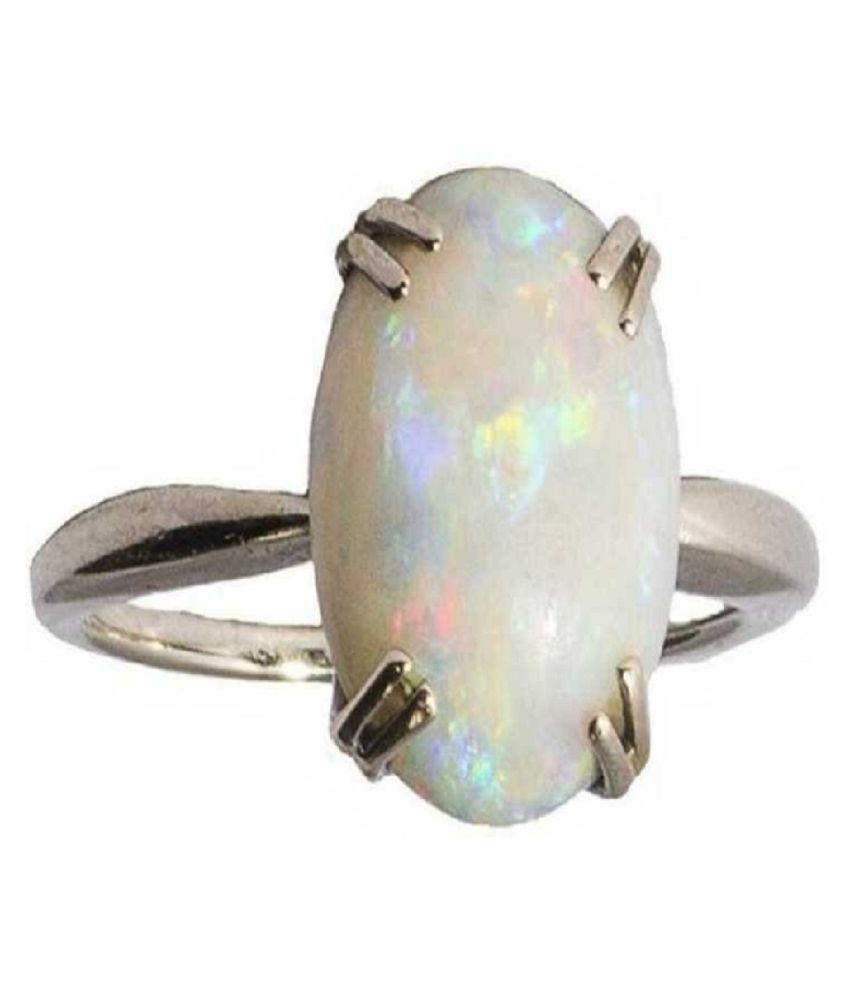 8.25 Ratti OPAL  silver Ring for Unisex by Kundli Gems\n