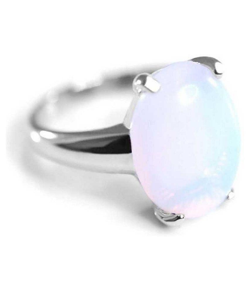 8.5 RATTI  Silver  OPAL  Ring  by Kundli Gems\n