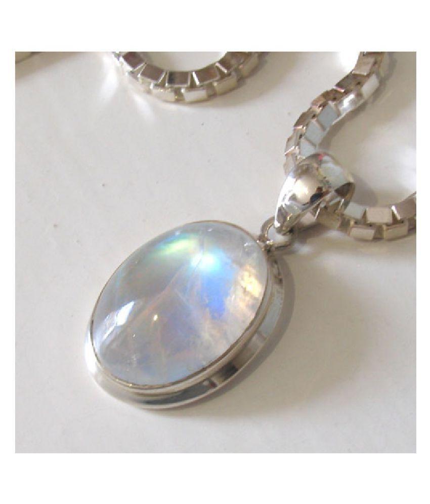 Astrological Stone 7.25 Ratti Certified silver Pendant by  Ratan Bazaar
