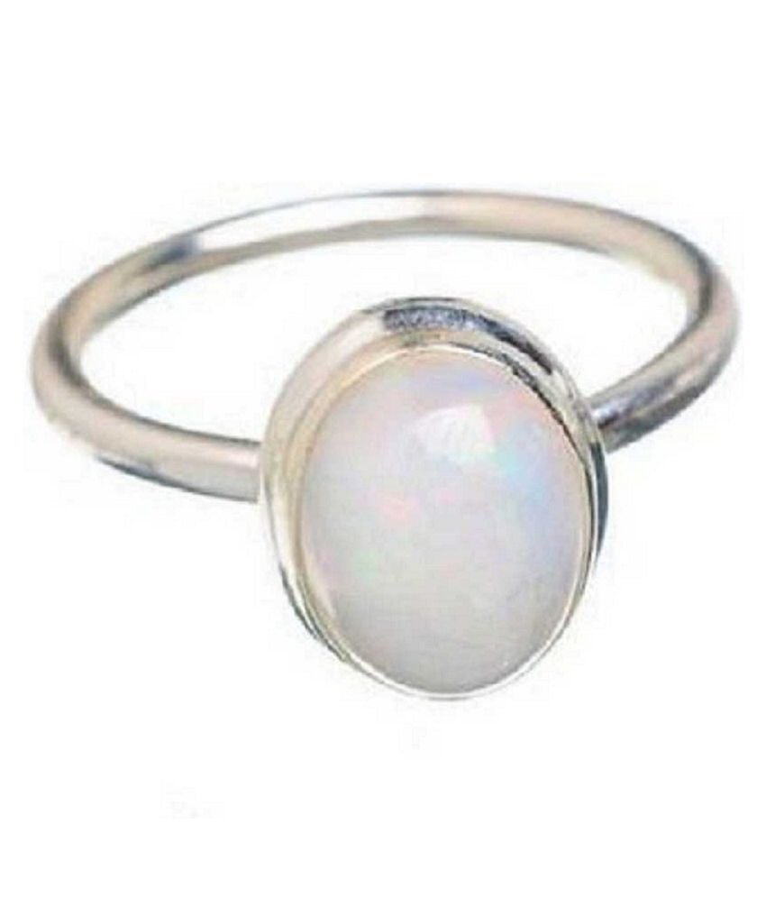 Natural OPAL  8 Carat silver Ring  by  Kundli Gems\n