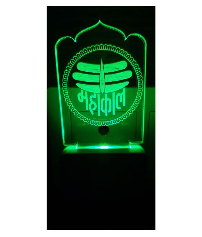 SUPER AJANTA MAHAKAL E077 Night Lamp Multi - Pack of 1