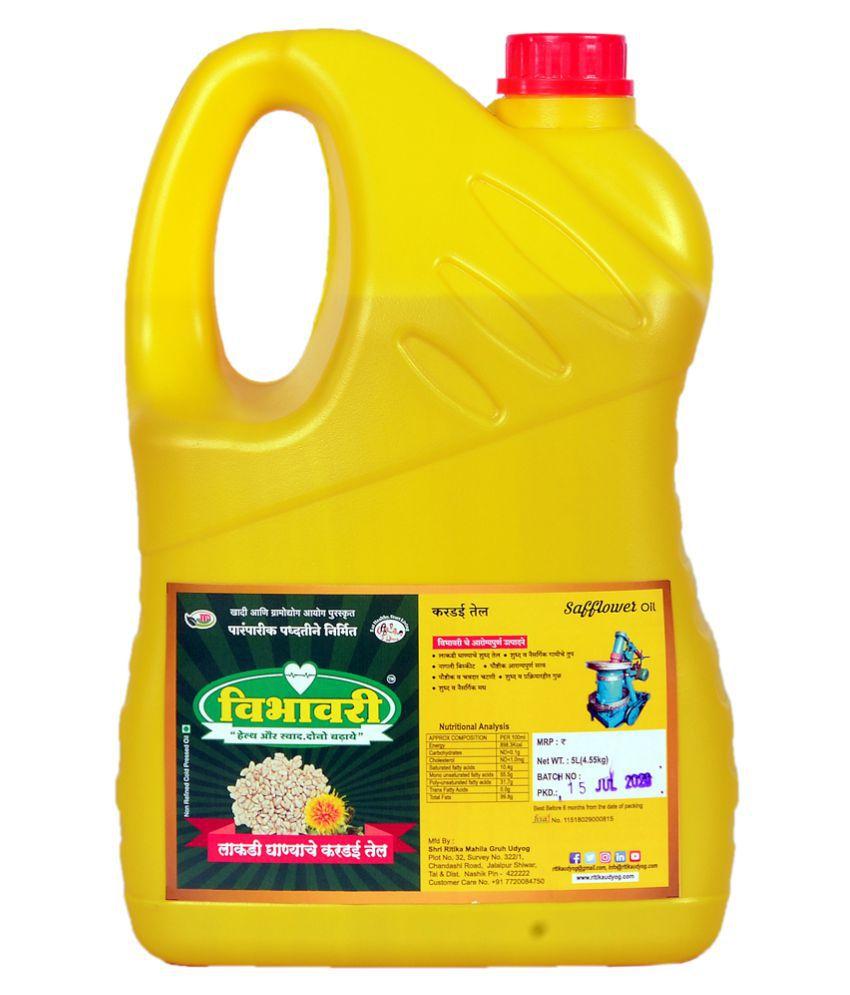 Vibhavari Cold Pressed Safflower Oil 5 L